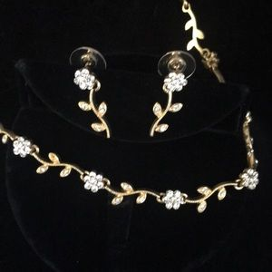 New Austrian crystal necklace & earrings set